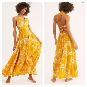 NWT Free People Little Printed Tie- Back Maxi Dre